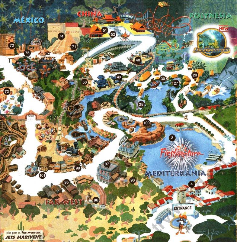 Карта парка развлечений «Порт