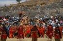 Инти Райми на древних камнях Куско